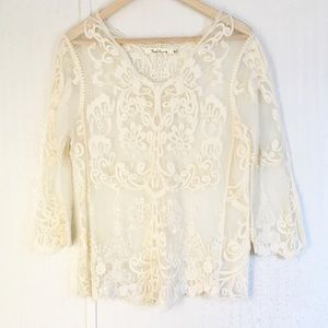 Solitaire Sheer Lace Top